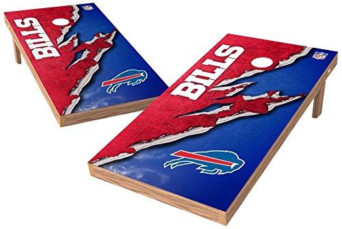PROLINE NFL Buffalo Bills 2'x4' Cornhole Board Set with Bluetooth Speakers - Ripped Design ()