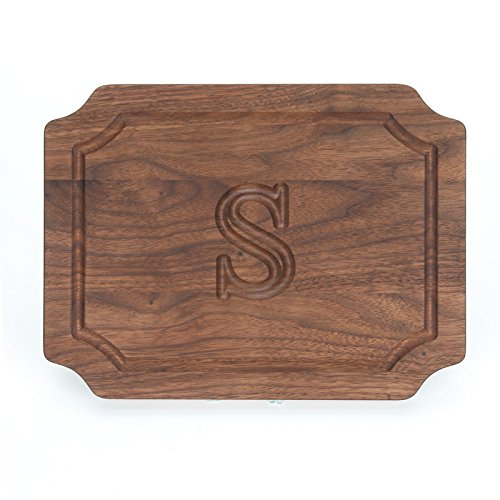 BigWood-Boards-BarCheese-Board-with-Scalloped-Corners-9-Inch-by-12-Inch-by-075-Inch-Monogrammed-Walnut