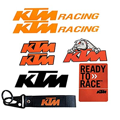 LLAP Motorcycle Decal Stickers for KTM Keychain Sets (8packs): Automotive