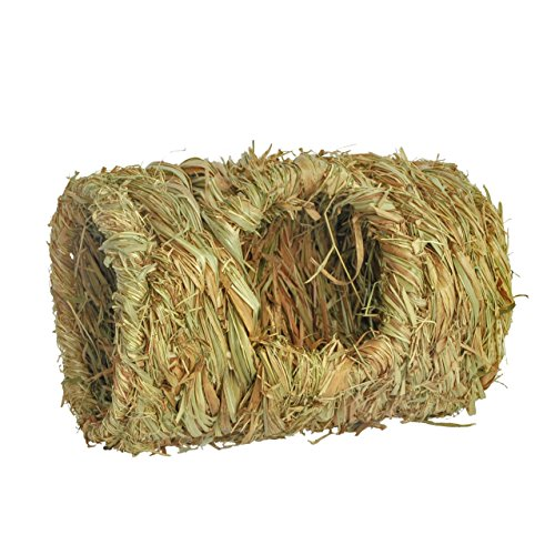 Niteangel Natural Hideaway Grass Toy, Chew Toy, Grass Tunnel for Hamster, Mice, Gerbil and Other Small (Natural Tunnel)