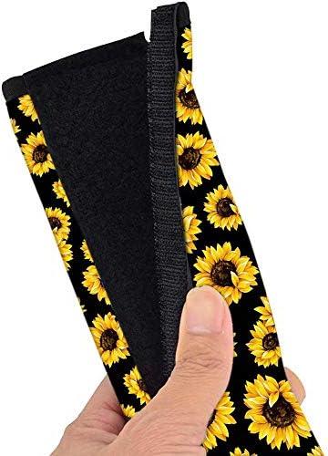 Sunflower Car Seat Belt Pads Cover 2 Pcs Comfortable Replacement Shoulder Strap Pads Universal Car Seat Belt Shoulder Pads Strap