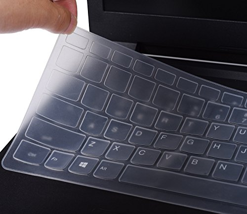 Keyboard Silicone Cover for Lenovo Yoga 710 14, Yoga 710 15 15.6, Flex 4 14, Lenovo ideapad 110 14, ideapad 310s 14, ideapad 510s 14, Clear