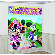 Disney Minnie Mouse Birthday Party Scene Setters Decoration (5 Pack), Multi Color, .
