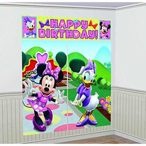 Disney Minnie Mouse Scene Setter Decoration Set Party Accessory (Minnie Mouse Ideas)