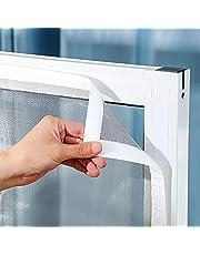 Universeel Venster Transparant Vliegenhor Venster Vliegenhor 150x200cm transparant horrengaas Eenvoudige installatie zonder boren-White||0.8x1.5m