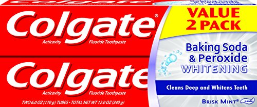 Colgate Baking Soda and Peroxide Whitening Toothpaste - 6 fluid ounce (2 Count)