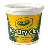 Wholesale CASE of 15 - Crayola Nontoxic Air-Dry Clay-Air-Dry Clay, 5lb, Nontoxic, White