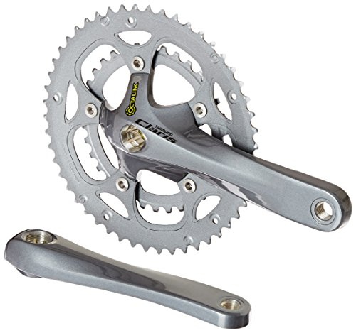 SHIMANO FC-2450 50/34T Double 8-Speed Claris Crankset, Silver, 175mm