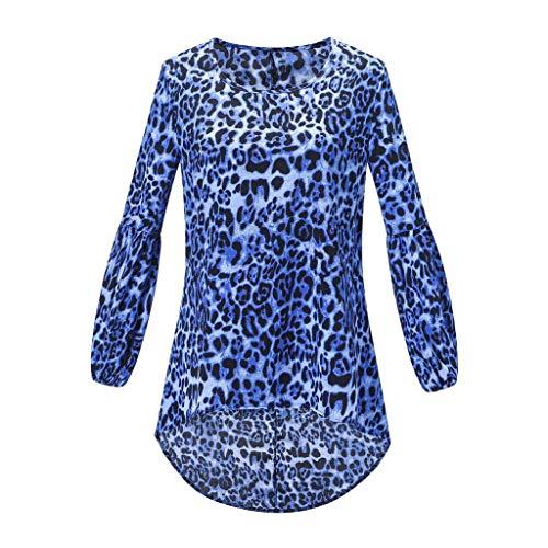 Henley Shirts Dress Iuhan Fashion Women Long Puff Sleeve Leopard Sweatshirt Top Blouse by Iuhan Women Blouse (Image #2)