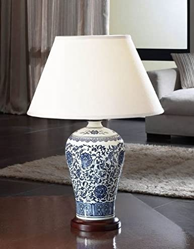 Lámpara de sobremesa (c/pantalla) (1 luz) 660810 porcelana ...