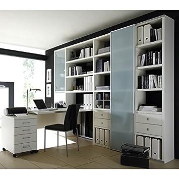 Parete attrezzata - Libreria da parete con scrivania toleo238 ...