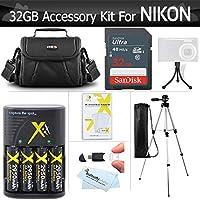 32GB L830 L830 L830 L840 L830 L830 L830 Cámara digital de 32 GB incluye tarjeta de memoria SD de alta velocidad de 32 GB + baterías recargables NIMH 4AA + cargador + cargador rápido + trípode ++