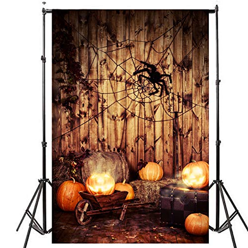 Showyou 5x7ft/1.5x2.1m Christmas & Halloween Holiday Theme Photography Backdrops for Photography/Party/Decoration -