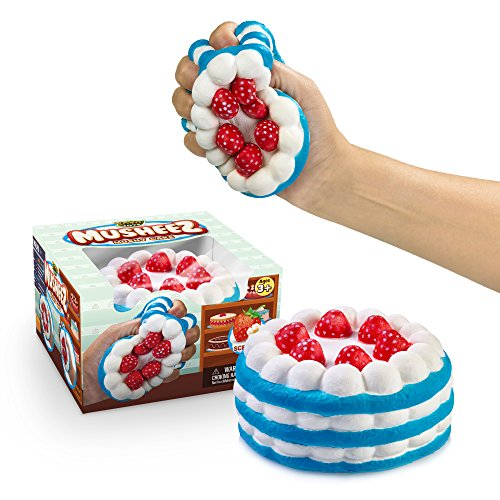YoYa Toys Stress Relief Squishy Cake Strawberry Cake Design - Super Slow Rising, Soft, Relaxing, Anti-Anxiety Squeeze & Fidget Toy for Kids & Adults - Scented Hand Rest Pillow - Gift Box Pack