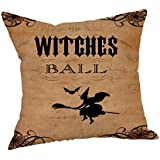 """Vintage Pillow Cases, Challyhope Retro Stylish Animal Skull Printed Linen Cushion Cover Halloween Sofa Home Decor (18""""x18"""", C 