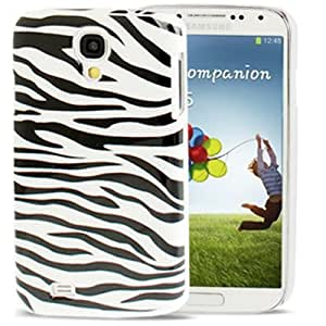 Zebra-stripe Pattern Plastic Case for Samsung Galaxy S IV / i9500