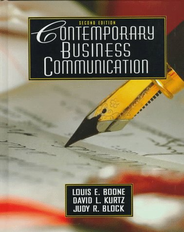 Contemporary Business Communication (2nd Edition)