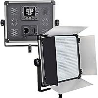 Idobol D-2000II Bi Color High Power 1724 LED Continuous Photography Lighting Panel, 140W 11000 Lumen Photo Studio Video Film Light With Barndoors, DMX Compatible