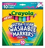 Crayola  Ultraclean BL Tropical Markers (10 Count)