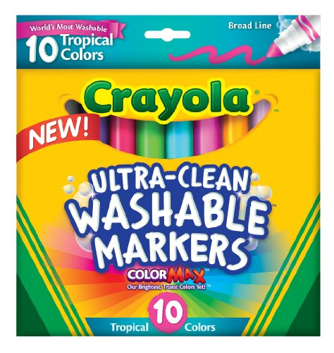 Crayola Plastic Box - Crayola Ultraclean BL Tropical Markers (10 Count)