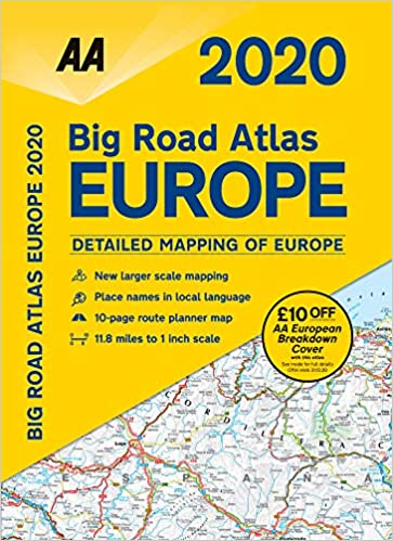 Ct Big List 2020.Big Road Atlas Europe 2020 Spiral Bound Aa Road Atlas
