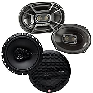 "Rockford Fosgate Polk 6x9 450W 3 Way Marine Speakers 6.5"" 90W Car Speakers"