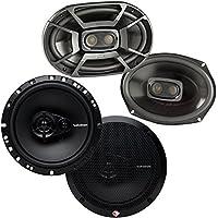 Polk 6x9 450W 3 Way Marine Speakers + Rockford Fosgate 6.5 90W Car Speakers