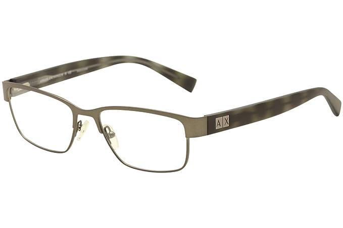9d717fb54c5 Image Unavailable. Image not available for. Colour  Armani Exchange AX1020  Eyeglass Frames 6093-54 - Matte Gunmetal