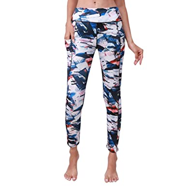 ITISME Jeanshosen Femmes Automne et Hiver Sexy Sport Gym Yoga Taille Haute  Poche Imprimé Course Fitness da325935afc