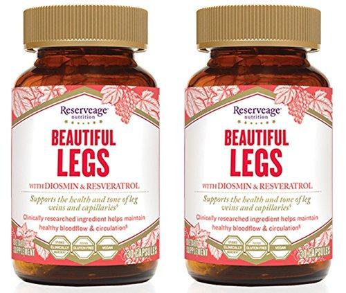 Beautiful Legs with Diosmin & Resveratrol, 30 Caps (Pack of 2)