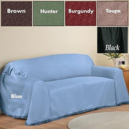 Furniture Throw Covers With Non Skid Backing (Hunter Green, Sofa (70u0026quot;  ...