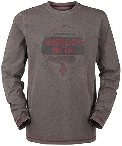 Musterbrand Uncharted Langarm T-Shirt Men Artefact Vintage Look Braun