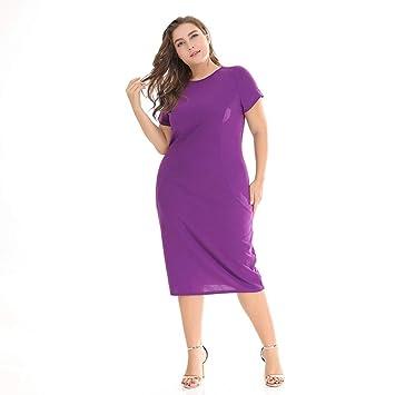 TDPYT Vestidos Amplios/Vestidos De Rodilla Violeta XL