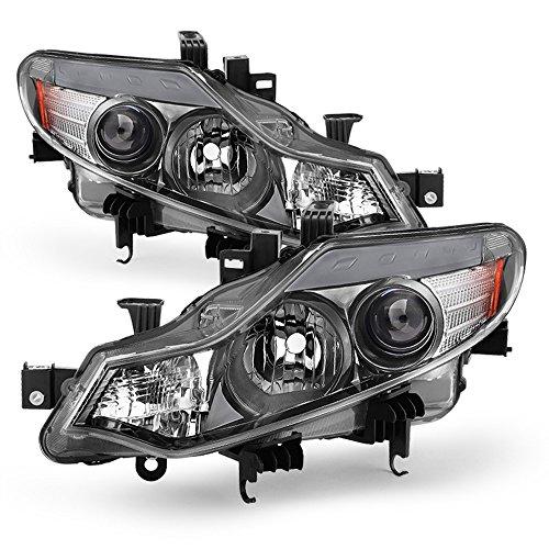 - ACANII - For [Halogen Model] 2009-2014 Murano Headlights Headlamps Replacement Driver + Passenger Side