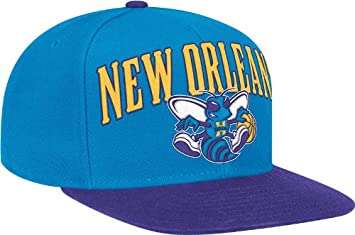 NBA New Orleans Hornets Wool Blend Adjustable Snapback Hat, One Size, Blue