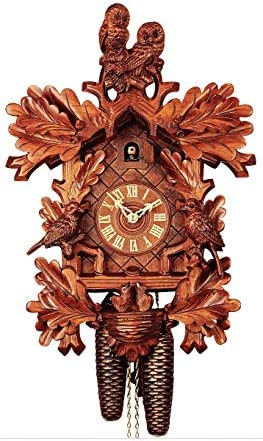 German Cuckoo Clock 8-day-movement Carved-Style 19.30 inch – Authentic black forest cuckoo clock by Rombach Haas