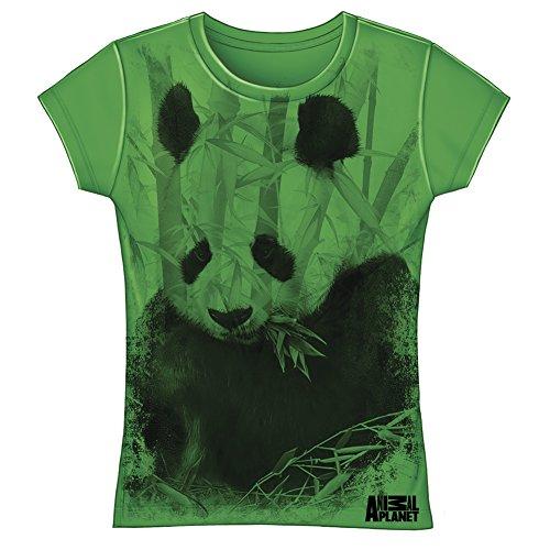 Animal Planet Panda Fitted Girls Tee Shirt (Medium (Girls Fitted Tee)