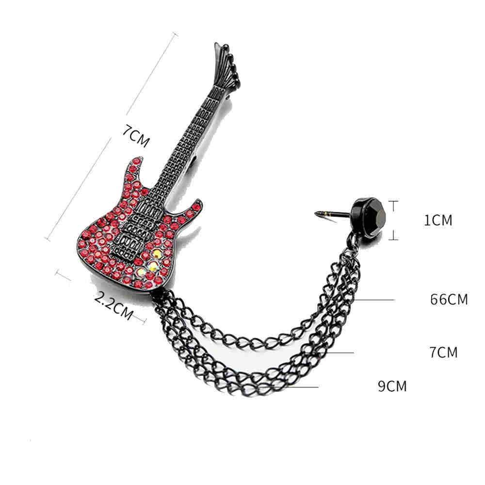 Susulv Accesorios de Broche Vintage para Hombre Guitarra Creativa ...