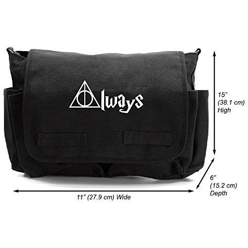 Always Harry Potter Decal Canvas Messenger Shoulder Bag, Bla