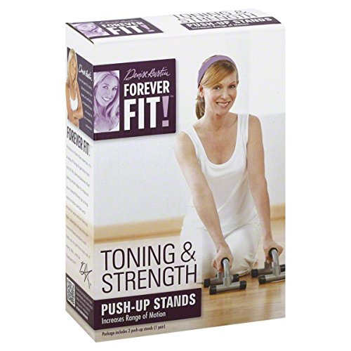 Forever Fit Push Up Stands, Toning & Strength, 1 pair