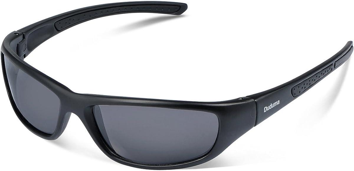 Duduma Gafas de Sol Deportivas Polarizadas Para Hombre Perfectas Para Esquiar Golf Correr Ciclismo TR8116 Súper Liviana Para Hombre y Para Mujer