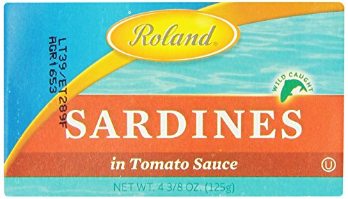 Roland Sardines in Tomato Sauce, 4.38 Ounce (Pack of 20)