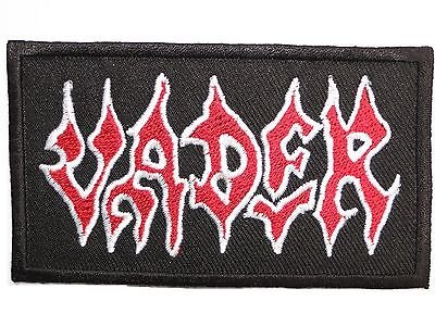 """VADER Logo Embroidered Death Metal Iron On Patch Approx: 3.7""""/9.6cm x Approx: 2.1""""/5.5cm By MNC Shop"""