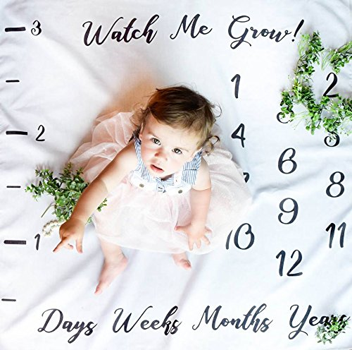 R&I Naturals Baby Milestone Blanket Photography Background Prop: Growing Infant & Toddlers
