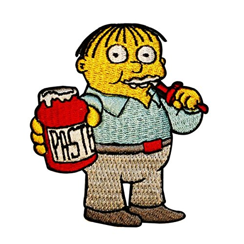 The Simpsons Ralph Eating Paste Patch Wiggum Class Embroidered Iron On -