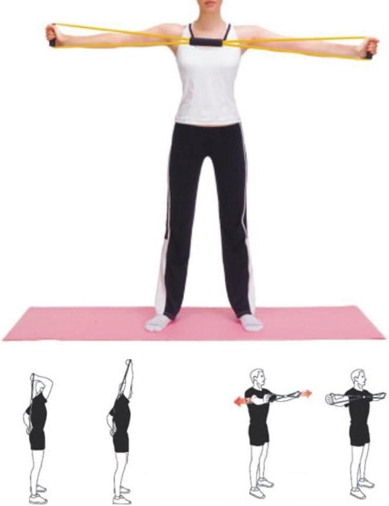 VORCOOL Bandas de Resistencia 2 Piezas Resistencia al Entrenamiento Cuerda de Cuerda Ejercicio de Entrenamiento para Yoga 8 Tipo Fashion Body Fitness Random Color