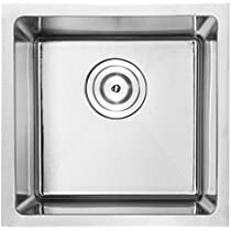 14' Bar Sink Phoenix PLZ-05 Undermount 18 Gauge Stainless Steel Square Kitchen Sink with Tight Radius Corners