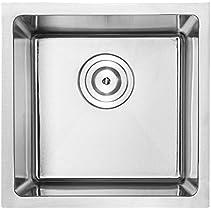 14  Bar Sink Phoenix PLZ-05 Undermount 18 Gauge Stainless Steel Square Kitchen Sink with Tight Radius Corners