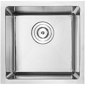 16' Phoenix PLZ-05 Undermount 18 Gauge Stainless Steel Tight Radius Single Bowl Bar/Prep Sink