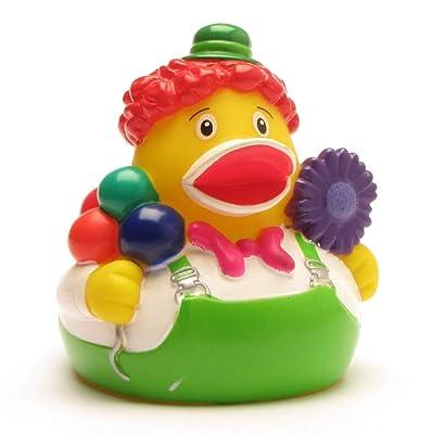 Rubber Duck Clown | Bath Duck | Duckshop | L: 8 cm : Baby